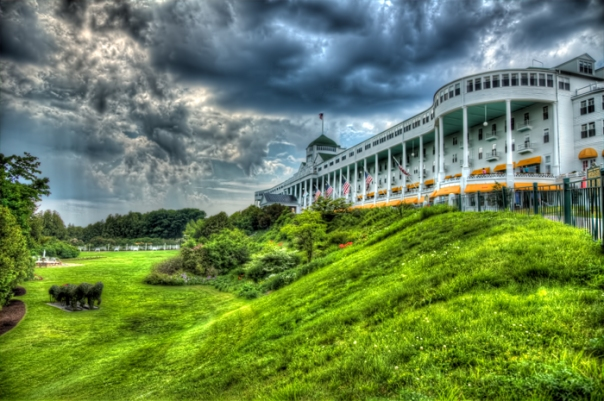 HDR photo of the Grand Hotel on Mackinac Island in Michigan.